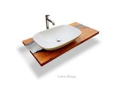 Piano lavabo in legnoLEBRÌC DESIGN - LEGNO E RESINA   Piano lavabo - ANTICO TRENTINO DI LUCIO SEPPI