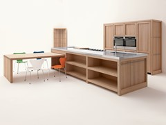 - Oak kitchen with island LEGNO VIVO - GD Arredamenti