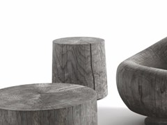 - Cedarwood stool / coffee table LEGNO VIVO OUTDOOR - Riva 1920