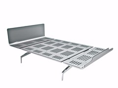- Aluminium and wood bed LEGNOLETTO 120 - LL4_120 - Alias