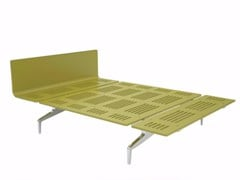 - Aluminium and wood bed LEGNOLETTO 140 - LL3_140 - Alias
