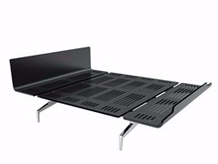 - Aluminium and wood double bed LEGNOLETTO 160 - LL4_160 - Alias