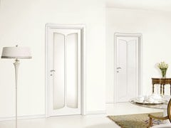 - Lacquered wood and glass door LIBERTY - LEGNOFORM
