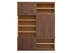 - Sectional wooden bookcase MASCHERA SCORREVOLE | Sectional bookcase - Morelato