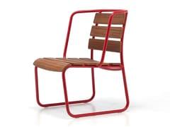 - Contemporary style sled base aluminium garden armchair LIDO OUT 04 - Very Wood