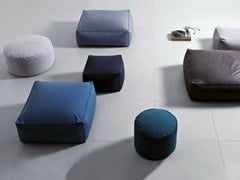 - Upholstered fabric pouf LIMBO | Pouf - PIANCA