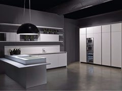 - Lacquered kitchen with peninsula LINE | Kitchen with peninsula - RIFRA