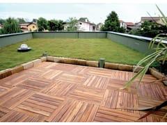 - Piastra in legno per pavimentazione da giardino LISTOPLATE - Onek