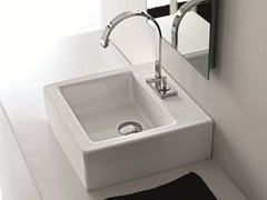 - Countertop square ceramic washbasin LOFT | Square washbasin - Hidra Ceramica