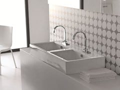 - Countertop ceramic washbasin LOFT | Double washbasin - Hidra Ceramica