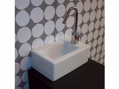 - Countertop rectangular ceramic washbasin LOFT | Ceramic washbasin - Hidra Ceramica