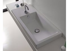 - Inset rectangular ceramic washbasin LOFT | Inset washbasin - Hidra Ceramica