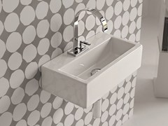 - Rectangular wall-mounted ceramic washbasin LOFT | Single washbasin - Hidra Ceramica