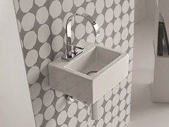 - Wall-mounted ceramic washbasin LOFT | Wall-mounted washbasin - Hidra Ceramica