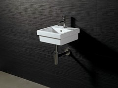 - Square ceramic washbasin LOGIC 35X35 - Alice Ceramica
