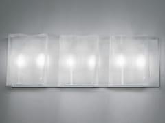 - Direct-indirect light blown glass wall lamp LOGICO 3 | Wall lamp - Artemide