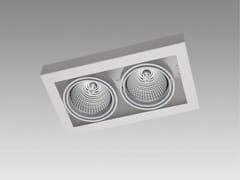 - Semi-inset ceiling spotlight LOOK IN DOUBLE - Orbit