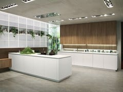 - Lacquered wooden kitchen with peninsula LOOK | Lacquered kitchen - Snaidero