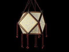 - Silk pendant lamp LOTO - Fortuny® by Venetia Studium