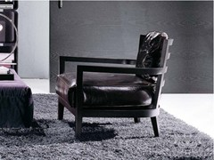 - Leather armchair with armrests LOUISE | Leather armchair - FRIGERIO POLTRONE E DIVANI