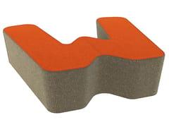 - Fabric pouf LOVE LETTERS W - Segis