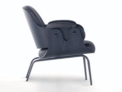 - Upholstered leather easy chair LOW LOUNGER | Easy chair - BD Barcelona Design