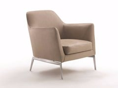 - Leather armchair with armrests LUCE   Armchair - FLEXFORM