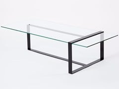 - Low rectangular glass and steel coffee table for living room SÉVERIN | Low coffee table - Alex de Rouvray design