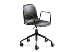 Sedia ufficio operativa ad altezza regolabile girevole con braccioliMÁNI PLASTIC AR-HO - ARRMET