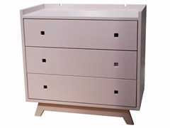 - Vintage style free standing kids chest of drawers with changing table MADAVIN | Chest of drawers - Mathy by Bols