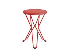 - Low galvanized steel garden stool MADRID | Low stool - iSimar