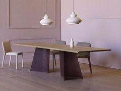 - Rectangular wooden table MAGGESE PLUS - Miniforms