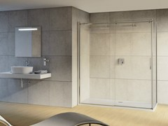 - Tempered glass shower cabin with sliding door MAGNUM | Shower cabin with sliding door - Ideal Standard Italia