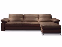 - Sectional leather sofa with chaise longue MAILLOL ANGLE - Canapés Duvivier