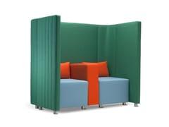 Divano componibile in tessuto in stile moderno a 2 posti con schienale altoMAJI SISTEMA 1 | Divano componibile - ADRENALINA