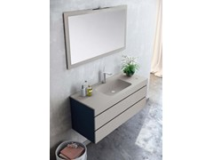 - Wall-mounted MDF vanity unit with drawers with mirror MAKING LISO P/28 - Fiora