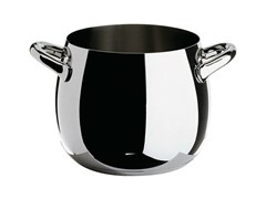- Stainless steel pot with two handles MAMI | Pot - ALESSI