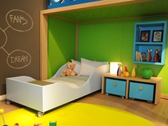 - Contemporary style lacquered cot with casters MAMMOLO | Cot with casters - dearkids