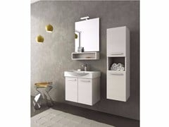 - Single vanity unit with doors MANHATTAN M1 - LEGNOBAGNO