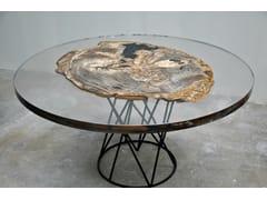 TavolinoTAVOLI IN LEGNO PIETRIFICATO   Tavolino in stile moderno - ANTICO TRENTINO DI LUCIO SEPPI