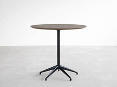 - Round table with 4-star base MAREA | Wooden table - STUA