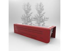 Fioriera per spazi pubblici alta bassa personalizzata in metalloMARGOT | Fioriera per spazi pubblici - CITYSÌ