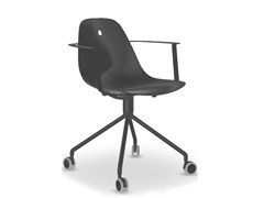 - Trestle-based aluminium task chair with casters MARGUERITE | Task chair - Joli