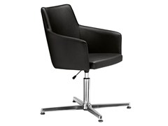- Swivel upholstered easy chair with 4-spoke base Marka 569 - Metalmobil