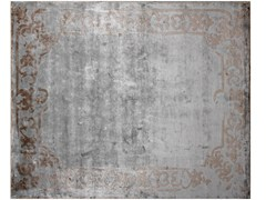 - Handmade rectangular custom rug MARQUISE SHADOW SILVER - EDITION BOUGAINVILLE