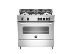 - Cucina a libera installazione professionale MASTER - MAS90 5 MFE S XE - Bertazzoni