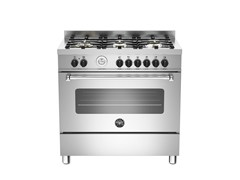 - Cucina a libera installazione professionale MASTER - MAS90 6 MFE S - Bertazzoni