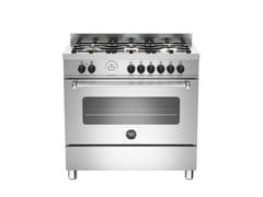 - Professional cooker MASTER - MAS90 6 MFE S - Bertazzoni
