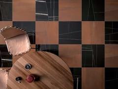 Pavimento/rivestimento in gres porcellanato effetto marmoMATCH SAHARA NOIR GLOSSY - CERAMICA FONDOVALLE