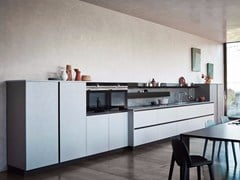 - Melamine Linear fitted kitchen without handles MAXIMA 2.2 - COMPOSITION 5 - Cesar Arredamenti